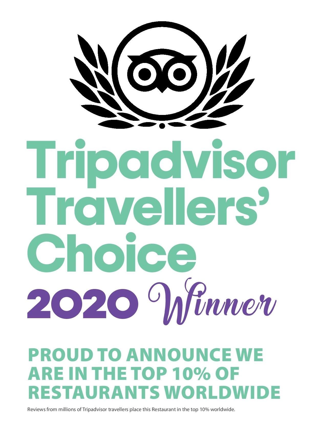 'TRAVELLER'S CHOICE 2020'